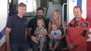 Baby born on rescue helicopter celebrates first birthday with crew [Video]