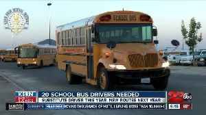 Kern Back in Business: Kern High School District looking for 20 new school bus drivers [Video]