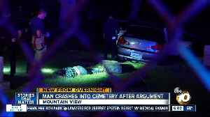 Driver crashes through cemetery after argument with ex-girlfriend [Video]