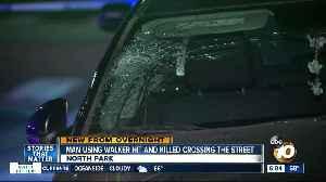 Pedestrian using walker hit by car while crossing street, killed [Video]