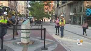 Finishing Touches Put On Boston Marathon Bombings Memorial [Video]