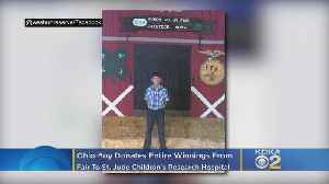 Ohio Boy Donates Entire $15k In Fair Winnings To St. Jude Children's Hospital [Video]