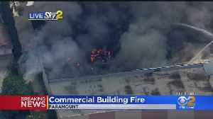 Flames Erupt At Commercial Building In Paramount [Video]