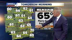 Warm front brings slightly stickier weather [Video]