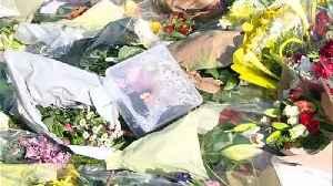 Police officers visit PC Harper's murder scene [Video]