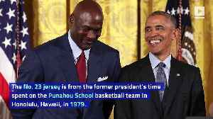 Basketball Jersey Worn by Barack Obama Auctioned Off for $120,000 [Video]