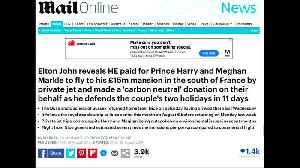 Elton John blasts 'relentless character assassination' of Harry and Meghan [Video]