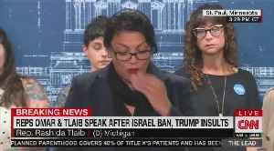 Rashida Tlaib cries at presser, Trump's not buying it [Video]