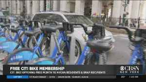 Citi Bike Offering Free Month To NYCHA Residents, SNAP Recipients [Video]