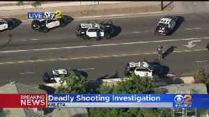 Large Police Presence In Arleta Neighborhood Following Fatal Officer-Involved Shooting [Video]