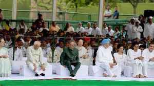 Rahul, Sonia pay homage to Rajiv Gandhi on his 75th birth anniversary [Video]