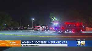 Firefighters Find Woman's Body Inside Burning Vehicle In Dallas [Video]