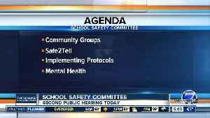 School Safety Committee holds second hearing today [Video]