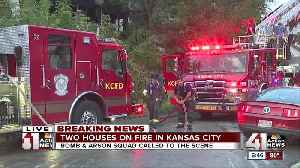 KC firefighters fight flames at two homes [Video]