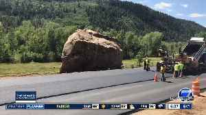 Road completed around giant boulder in southwest Colorado [Video]