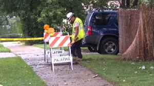 News video: Lightning Strike Tree, Ruptures Gas Line In Palatine