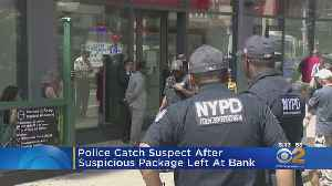 Police Catch Suspect After Suspicious Package Left At Bank [Video]