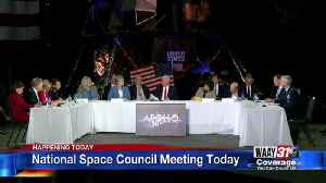 Space council meeting today [Video]