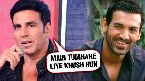 Akshay Kumar's SWEET Message For John Abraham | Batla House | Mission Mangal [Video]