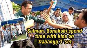 Salman, Sonakshi spend time with kids on 'Dabangg 3' set [Video]