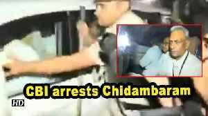 News video: CBI arrests Chidambaram