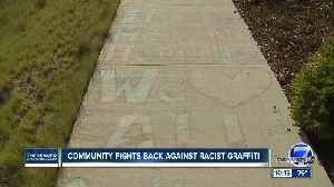 Racist graffiti was found in a Stapleton park and neighbors are fighting back [Video]