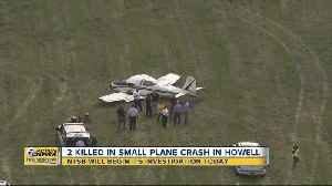NTSB will begin its investigation today of 2 killed in small plane crash in Howell [Video]