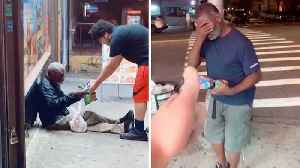 GENEROUS MAN HELPS HOMELESS BY BUYING THEM FOOD AT ANY OPPORTUNITY [Video]