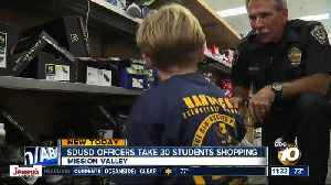 SD Unified officers take 30 San Diego students on school shopping spree [Video]