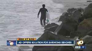Ad offers solution for shrinking beaches [Video]