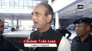 News video: Its sign of intolerance Ghulam Nabi Azad on being stopped at Jammu Airport