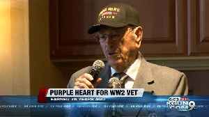 WW2 Vet gets medal 76 years later [Video]