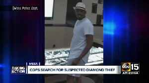 Suspect runs off with two princess-cut diamonds from Mesa store [Video]