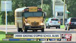 Drivers caught on camera blowing past school bus [Video]