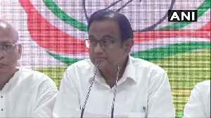 News video: INX Media case: 'Was not hiding,' says Chidambaram at Congress HQ