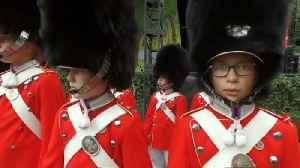 Watch: Girls and boys march in step as world's oldest youth guard turns 175 [Video]
