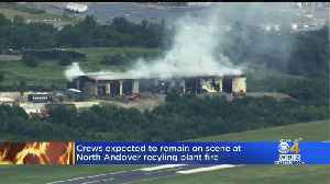 North Andover Recycling Center Destroyed In Long Burning Fire [Video]