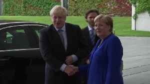 German Chancellor Angela Merkel welcomes UK Prime Minister Boris Johnson [Video]