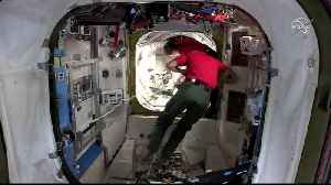 WEB EXTRA: Spacewalk Attaching Docking Port [Video]