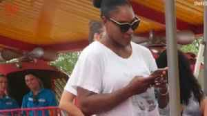 News video: Serena Williams Spotted At Amusement Park Waiting For 'Mini Rollercoaster' After Withdrawing From Tennis Tournament