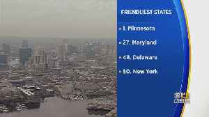 Maryland Ranked No. 27 On Travel Site's Friendliest States List [Video]