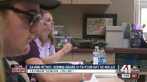 Saving money, adding hour with four-day schedule [Video]