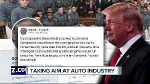 News video: Trump tweets about automakers
