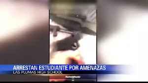 Arrestan a estudiante por amenazas a escuela [Video]