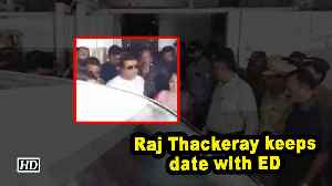 Raj Thackeray keeps date with ED [Video]
