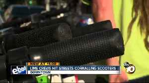 Lime crews hit the streets corralling scooters [Video]