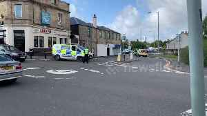 Armed police in Scotland surround man armed with a knife at a Falkirk train station [Video]