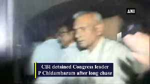 CBI team detains Chidambaram after long chase [Video]