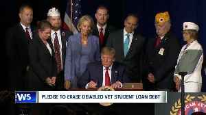 News video: President Trump signs order to eliminate federal student loan debt for some disabled veterans