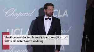 News video: Gerard Butler accidentally flashed guests at his sister's wedding